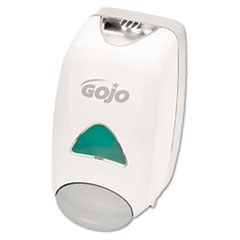 GOJO Liquid Foaming Soap Dispenser, 1250mL, 6 1/8w x 5 1/8d x 10 1/2h, Gray/White