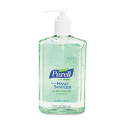 PURELL Instant Hand Sanitizer w/Aloe, 12-oz. Pump Bottle