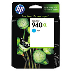 C4907AN (HP 940XL) Ink Cartridge, 1400 Page-Yield, Cyan