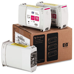C5084A (HP 90) Ink Cartridge, 3/Pack, Magenta