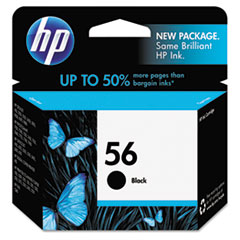 C6656AN (HP-56) Ink Cartridge, 520 Page-Yield, Black