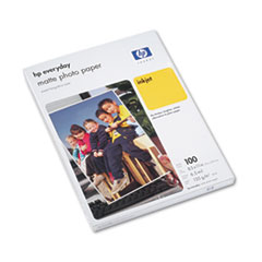 HP Inkjet Photo Papers, 36 lbs., Matte, 8-1/2 x 11, 100 Sheets/Pack