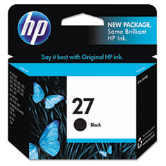 C8727AN (HP 27) Ink Cartridge, 280 Page-Yield, Black