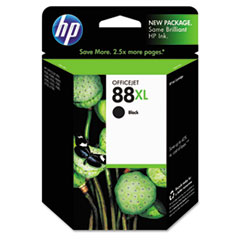 C9396AN (HP 88XL) Ink, 2450 Page-Yield, Black