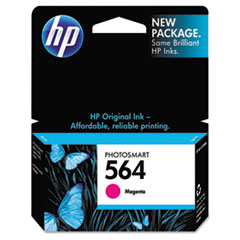 CB319WN (HP 564) Ink Cartridge, 300 Page-Yield, Magenta