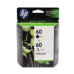 HP 60, (CD947FN) 2-pack Black/Tri-color Original Ink Cartridges