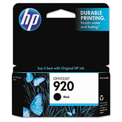 CD971AN (HP 920) Ink Cartridge, 420 Page-Yield, Black