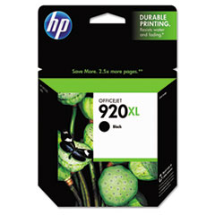 CD975AN (HP 920XL) High-Yield Ink Cartridge, 1200 Page-Yield, Black