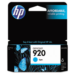 CH634AN (HP-920) Ink Cartridge, 300 Page-Yield, Cyan