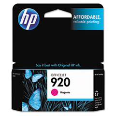 CH635AN (HP-920) Ink Cartridge, 300 Page-Yield, Magenta