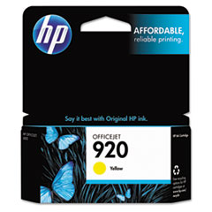CH636AN (HP-920) Ink Cartridge, 300 Page-Yield, Yellow