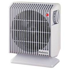 Holmes Compact Heater Fan, Gray, 4.84w x 8.19d x 9.92h