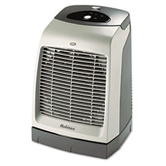 Holmes One-Touch Oscillating Heater/Fan, 9 1/8w x 9 5/8d x 13 1/2h, Gray