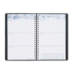 House of Doolittle Academic Weekly/Monthly Appointment Book/Planner, 5 x 8, Black, 2012-2013