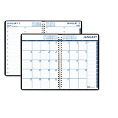 House of Doolittle 24/7 Daily Appointment Book/Monthly Planner, 7 x 10, Black, 2013