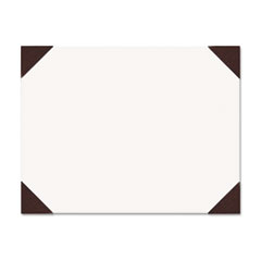 House of Doolittle Ecotones Desk Pad, 25-Sheet Pad, 22 x 17, Moonlight Cream/Brown Rhino