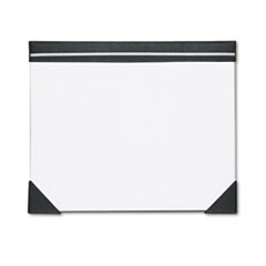House of Doolittle Executive Doodle Desk Pad, 25-Sheet White Pad, Refillable, 22 x 17, Black/Silver