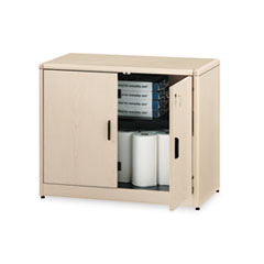 10700 Series Locking Storage Cabinet, 36w x 20d x 29-1/2h, Natural Maple