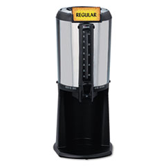 Hormel Thermal Beverage Dispenser, Gravity, 2.5 Liter, Stainless Steel/Black