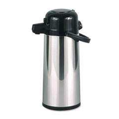 Hormel Commercial Grade 2.2L Airpot, w/Push-Button Pump, Stainless Steel
