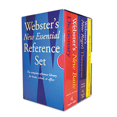 Houghton Mifflin Webster's New Essential Reference Three-Book Desk Set, Paperback
