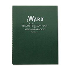 Ward Lesson Plan Book, Wirebound, 8 Class Periods/Day, 11 x 8-1/2, 100 Pages, Green