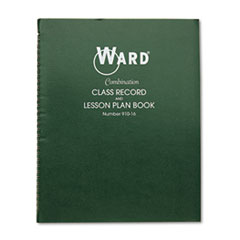 Ward Combination Record & Plan Book, 9-10 Weeks, 6 Periods/Day, 11 x 8-1/2