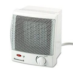 Honeywell Quick Heat 1500W Ceramic Heater, Plastic Case, 6-1/2w x 6-1/4d x 7-1/4h