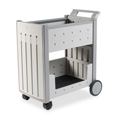 Iceberg SnapEase Mail Cart, Resin, 21w x 38-1/2d x 42h, Platinum