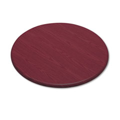 "Officeworks Round Table Top, 36"" Diameter, Mahogany"