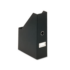Snap-N-Store Heavy-Duty Fiberboard Magazine File with PVC Laminate, 3 1/2 x 9 1/4 x 14, Black