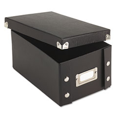 Snap-N-Store Snap 'N Store Collapsible Index Card File Box Holds 1,100 4 x 6 Cards, Black