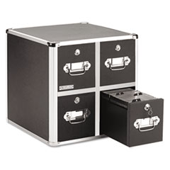 Vaultz Four-Drawer CD File Cabinet, Holds 660 Folders/240 Slim/120 Std. Cases