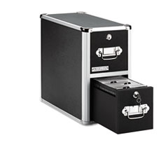 Vaultz Two-Drawer CD File Cabinet, Holds 330 Folders/120 Slim/60 Std. Cases