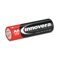 Innovera Alkaline Batteries, AA, 8 Batteries/Pack