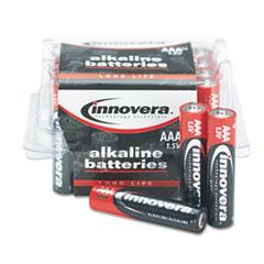 Innovera Alkaline Batteries, AAA, 24 Batteries/Pack