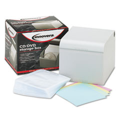 Innovera CD/DVD Storage Box, Holds 80 Disks