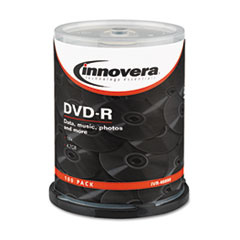 Innovera DVD-R Discs, 4.7GB, 16x, Spindle, Silver, 100/Pack