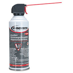 Innovera Compressed Gas Duster, Nonflammable, 10oz Can