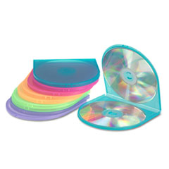 Innovera CD/DVD Shell Case, Assorted Colors, 10/Pack