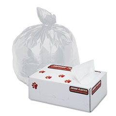 Jaguar Plastics Super Extra-Heavy Liners, 20-30 Gallon, 16 Micron, 30 x 37, Natural, 500/Carton