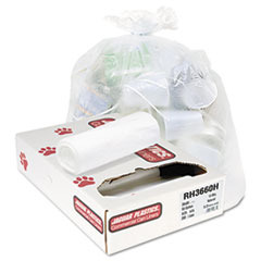 Jaguar Plastics Heavy Grade Liners, 55 gal, 13 mic, 36 x 60, 8 Rolls of 25 Bags, 200/Carton