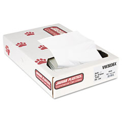 Jaguar Plastics Industrial Strength Commercial Can Liners, 30 gal, .7 mil, White, 200/Carton