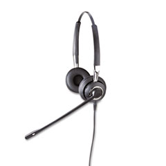 Jabra BIZ 2425 Binaural Over-the-Head Headset w/Noise Canceling Microphone