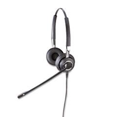 Jabra BIZ 2425 Binaural Over-the-Head Headset w/Noise Canceling Microphone