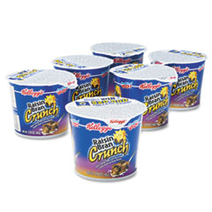 Kelloggs Breakfast Cereal, Raisin Bran Crunch, Single-Serve 2.8oz Cup, 6 Cups/Box