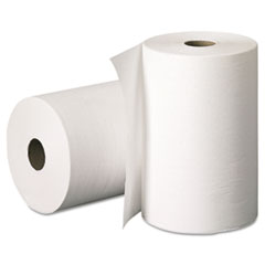 KIMBERLY-CLARK PROFESSIONAL* SCOTT Hard Roll Towels, 8 x 400', White, 12/Carton