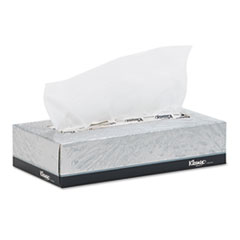 KIMBERLY-CLARK PROFESSIONAL* KLEENEX White Facial Tissue, 2-Ply, 125/Box, 12/Carton