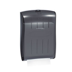 KIMBERLY-CLARK PROFESSIONAL* IN-SIGHT Universal Towel Dispenser, 13 31/100w x 5 16/20d x 18 16/20h,Smoke/Gray