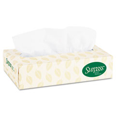 KIMBERLY-CLARK PROFESSIONAL* SURPASS 100% Recycled Fiber Facial Tissue, 2-Ply, 125/Box, 60 Boxes/Carton